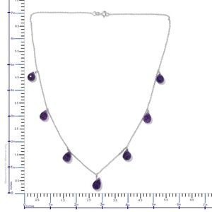 Jewelry - Amethyst Platinum Over Sterling Silver  Necklace